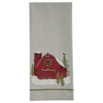 Barn Christmas Dishtowel