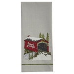 Seasons Greetings Bridge Dishtowel