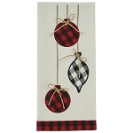 Ornaments Applique Dishtowel