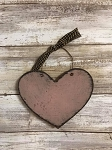 Handmade Pink Heart with Hanger