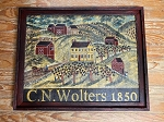 Hand Painted C.N. Wolters 1850 Painting by Kathy Grabill
