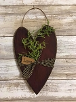 Handmade Heart with Love tag and greens