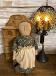 Handmade Prairie Doll in Blue Dress 15