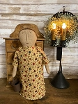 Handmade Prairie Doll in Yellow Dress 15
