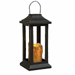 Burnt Ivory Pillar Lantern, 10 inch