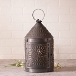17-Inch Fireside Lantern in Blackened Tin