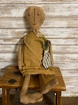 Handmade Doll in Mustard Dress 12