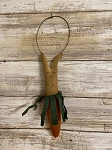 Primitive Handmade Bunny in Carrot Ornament 6
