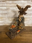 Handmade Primitive Bunny Rabbit With Wheelbarrow 12