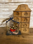 Handmade Americana Patriotic Primitive Birds Nest on Stand 12