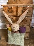 Handmade Bunny Rabbit Pouch with Flowers 12