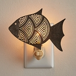 Galvanized Fish Night Light