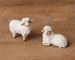 German Style Putz Wooly Sheep