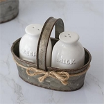 Milk Bottle Salt and Pepper Shakers