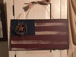 Handmade Wood Americana Patriotic Flag 17