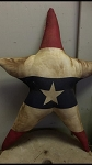 Handmade Americana Flag Star Pillow 17