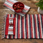 Stars And Stripes Chindi Placemat Americana