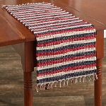 Stars And Stripes Chindi Table Runner - 36