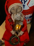 Handmade Olde Time Sitting Santa in Red with Lantern 27