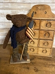 Handmade Americana Bear with Flag 14