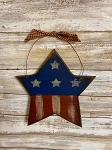 Handmade Americana Wood Star with Hanger 8