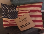 Handmade Americana Flag Pillow Set of 2
