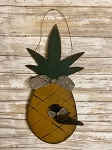 Handmade Wood Pineapple with Crow & Hanger 21