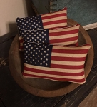 Handmade Small Flag Pillow Set of 3 Americana 6