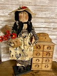 Handmade Garden Doll Black & White Farmhouse 28