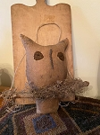 "Handmade owl perched on a tree branch is 11"" plus his hanger."