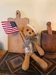 Handmade Americana Teddy Bear with Flag 19