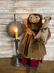 Handmade Primitive Doll Holding an Adorable Goat 25