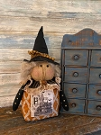 Handmade Primitive Witch Doll 17