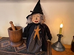 Handmade Primitive Witch with Sculpted Face 24