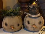Handmade Cloth Snowman with Battery Operated Light 9