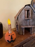 Handmade Felted Jack O Lantern Pumpkin Taper Candle Holder