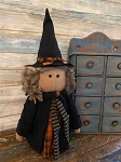Handmade Primitive Witch Doll 18