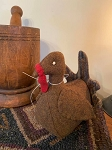 Handmade WOOL Turkey with Hand Stiched Feathers