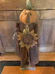 Handmade Pumpkin Fall Doll with Sunflower 34