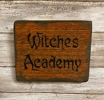 Witches Academy Handmade Wood Sign 6