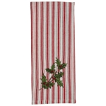 Holly And Ticking Decorative Dishtowel