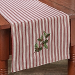 Holly And Ticking Table Runner - 36