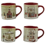 Vintage Town Square Mug 4 Assorted