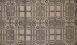 THE WAGON WHEEL SHORT TABLE RUNNER BLACK/TAN 14