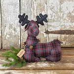 Medium Snowflake Laying Plaid Deer 15