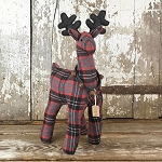 Fredrik Large Plaid Standing Deer 21