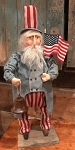 Handmade Clay Face Chubby Uncle Sam 22