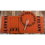 Making Magic Candle Mat Orange Witch