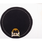 Cats on a Fence Candle Mat Black