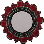 Festive Flannel Candle Mat Red